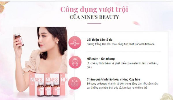 vien-uong-trang-da-nine-s-beauty-cong-dung